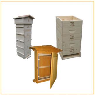 Bienenbeuten aus Massivholz